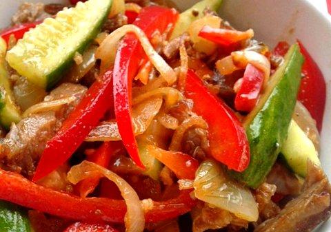 Огурцы по-корейски с мясом рецепт с и пошаговым приготовлением с мясом