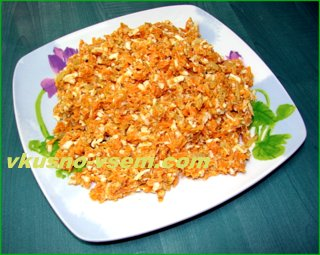 Салат из вареной моркови