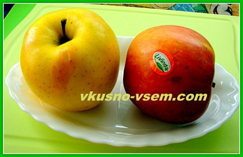 Яблока в тесте