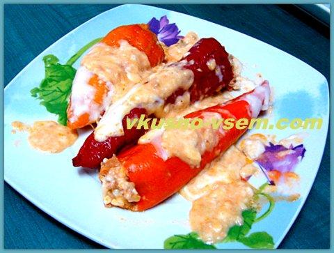 Перец, фаршированный тунцом, Рецепт фаршированного перца