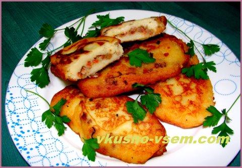 Зразы картофельные с мясным фаршем