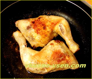Как пожарить окорочка на сковороде
