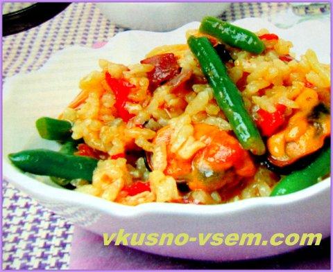 Испанское блюдо из риса
