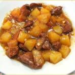 Кисло-сладкое свиное мясо с ананасом
