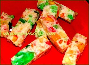Десерт из желе
