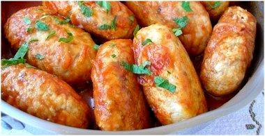 Куриные котлеты с гречкой на сковороде