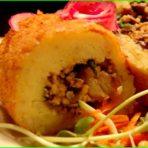 Картошка с грибной начинкой