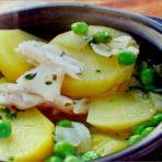 Картофель в зеленом соусе