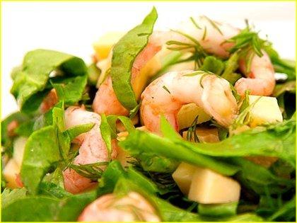 Рецепт блюда с креветками