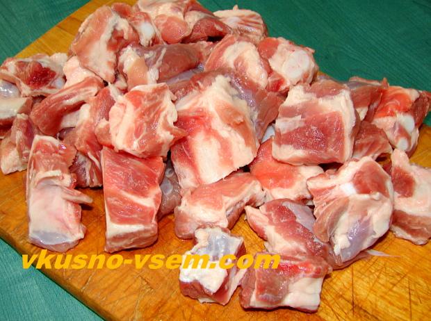 Капуста, тушеная с мясом