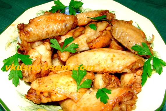 Как вкусно приготовить куриные крылышки