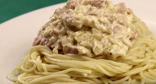 Вкусное блюдо из спагетти