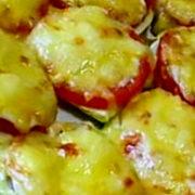 Кабачки с грибами и сыром