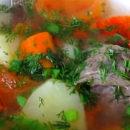 Турецкий суп с бараниной, булгуром и чечевицей