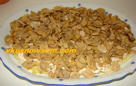Рецепт салата Подсолнух с фото