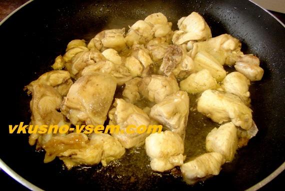 Плов из курицы в сковороде