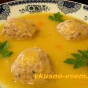 Холостяцкий суп с фрикадельками