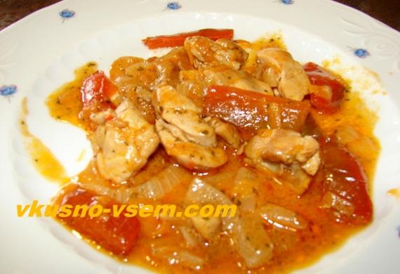 Вкусный рецепт курицы с овощами