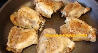 Курица с макаронами и овощами