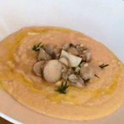 Грибной крем-суп с нутом